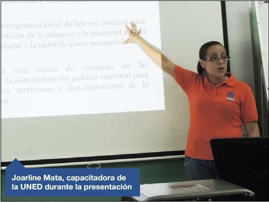 UNED CAPACITA A 168 GRUPOS COSTARRICENSES