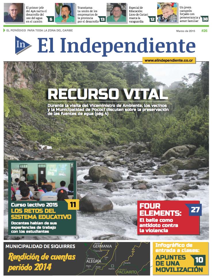 Edición #26 – El Independiente – Marzo 2015