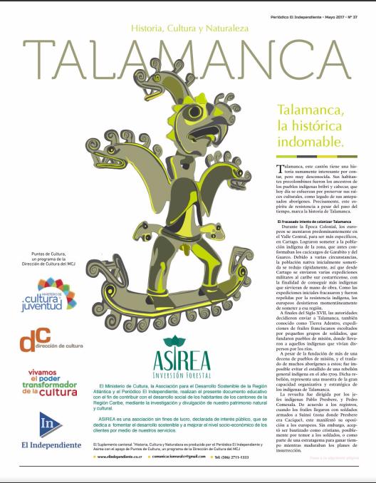 Suplemento: Historia, cultura y naturaleza Talamanca