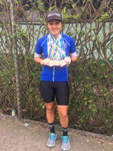 La joven ciclista logró hacerse con varias medallas en las competiciones.
