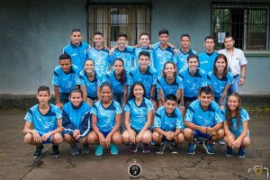 Selección de Atletismo que representó al cantón en Juegos Nacionales 2017.