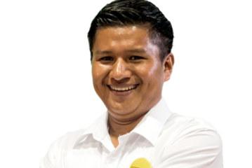 Emmanuel Buitrago Paez candidato a diputado por la provincia de Limón.