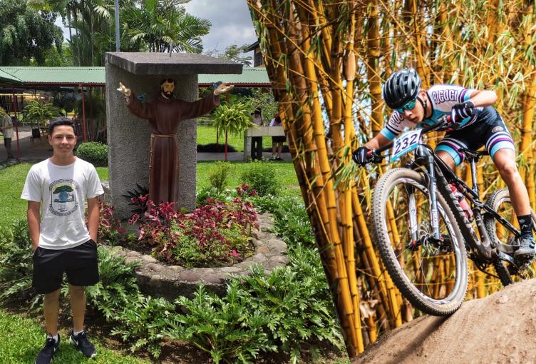 Steven Vargas, joven promesa pocociceña del ciclismo.
