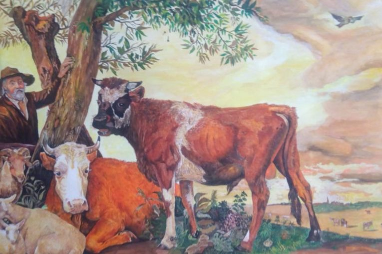 Salvador Castillo - Copia The Bull Paulus Potter - Acuarela