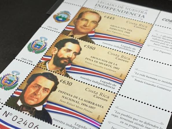 Beneméritos de la Patria ilustran emisión postal dedicada al Legado de Nuestra Independencia