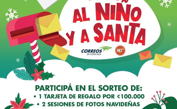 """Correos de Costa Rica lanza concurso """"Cartas al Niño y a Santa"""""""