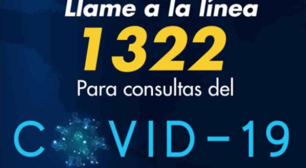 Se activa la Línea telefónica 1322 para atención de consultas sobre COVID-19