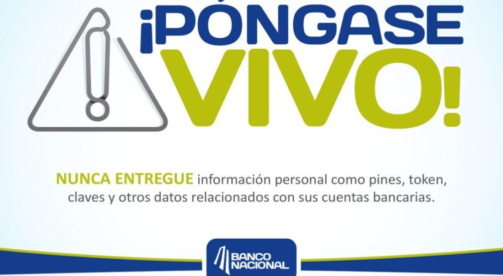 Póngase Vivo: Banco Nacional nunca solicitará activar o actualizar su firma digital por WhatsApp