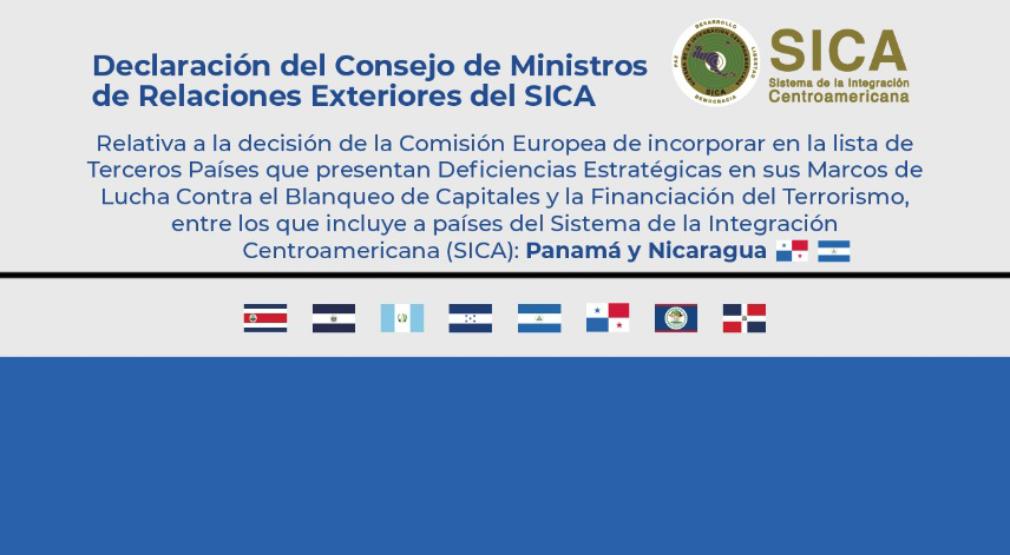 Ministros de Relaciones Exteriores del SICA emiten Declaración Conjunta ante publicación de la Comisión Europea