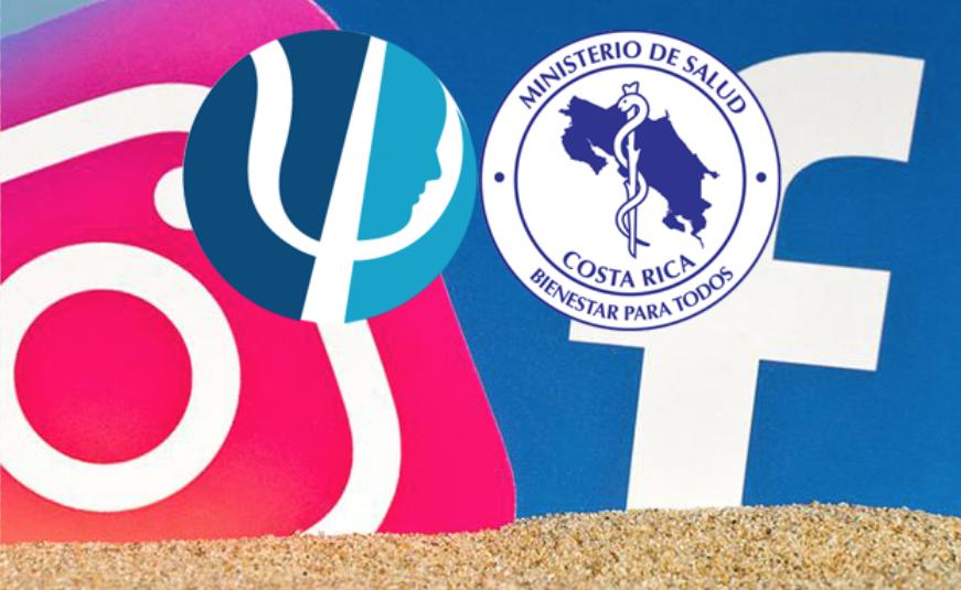 Facebook e Instagram de la mano del Ministerio de Salud de Costa Rica y del Colegio de Profesionales en Psicología de Costa Rica se unen para promover la salud mental durante este período de distanciamiento físico