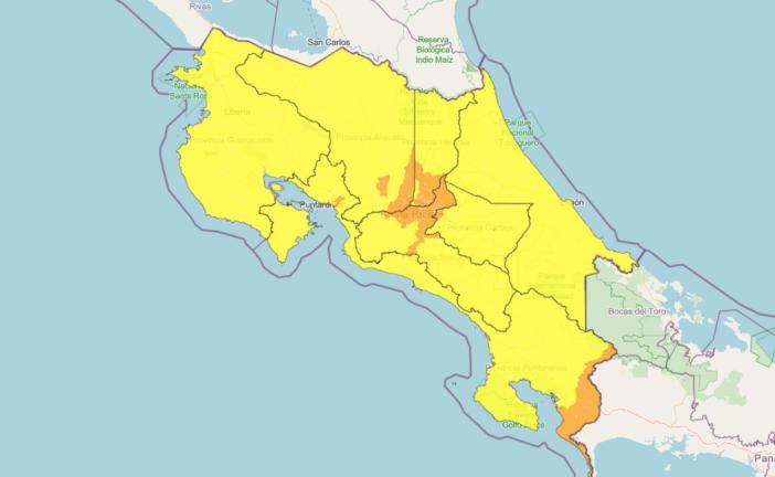Mapa interactivo de Alertas CNE