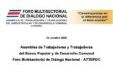 Foro Multisectorial de diálogo Nnacional –  ACUERDOS SOBRE EL DIÁLOGO NACIONAL