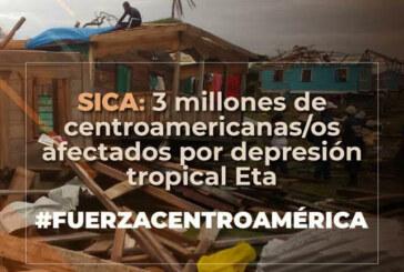 SICA: Centroamérica, 3 millones de personas afectadas por depresión tropical Eta