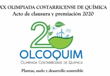 Esta mañana se realizó el acto de clausura de la XX Olimpiada Costarricense de Química (Olcoquim).