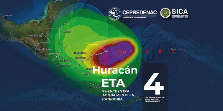 SICA: Centroamérica en alerta y acción ante Huracán ETA