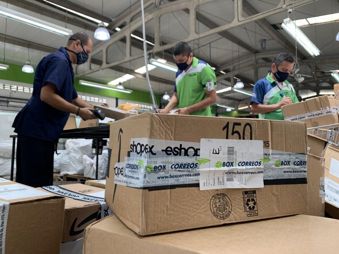 Diciembre inicia con un aumento de más del 50% en la paquetería procesada por Correos de Costa Rica