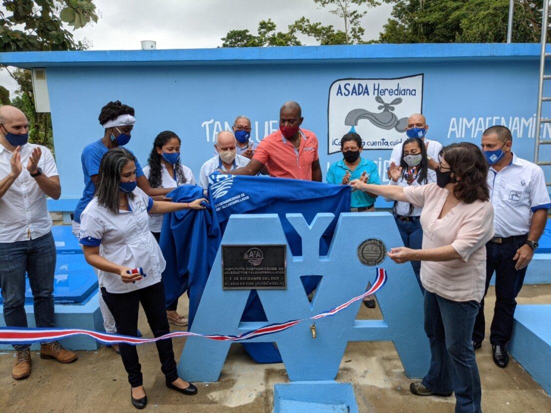8.700 personas de La Herediana de Siquirres cuentan con mejor servicio de agua potable