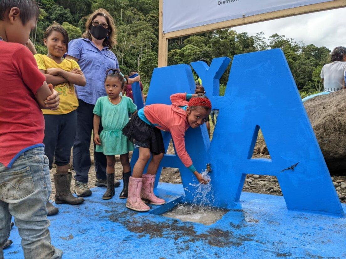 En Alto Telire inauguran dos acueductos para comunidades indígenas
