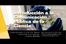 Curso: Introducción a la comunicación pública de la ciencia