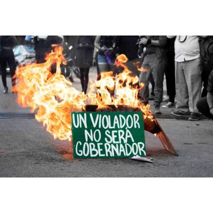 En México: Defensora recibe amenazas por protestas contra candidato acusado de violación.