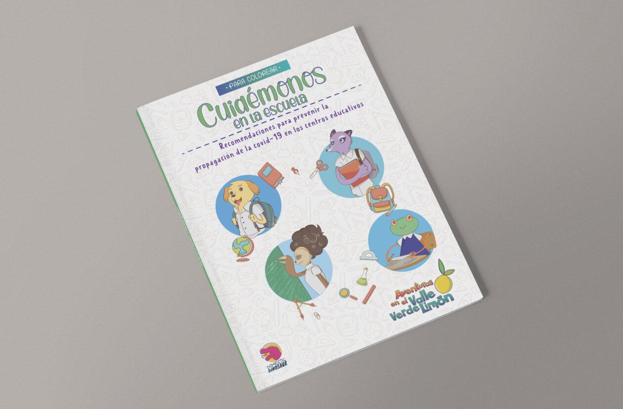 Libro de colorear enseña a niños y niñas a protegerse de la covid-19 en clases