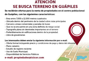 ATENCIÓN SE BUSCA TERRENO EN GUÁPILES