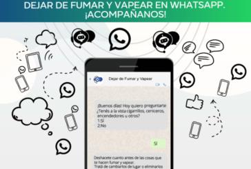 """Ayuda para """"dejar de fumar y vapear"""" llega a través de WhatsApp"""