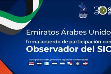 Emiratos Árabes Unidos ingresa como Observador al SICA